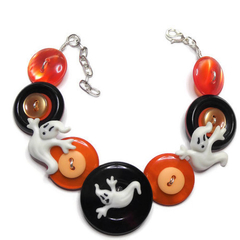 Button bracelet - Halloween spooks