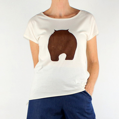 Wombat Organic Cotton T- shirt in Natural