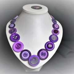 Purple Button necklace - Purple Patch