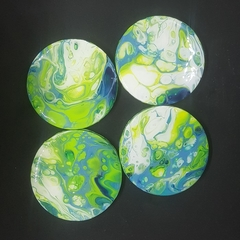 Coasters - summer lime and aqua