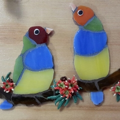 Mosaic Finches Key Holder