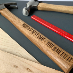 Personalised hammer - Nailed it - funny gift for Dad