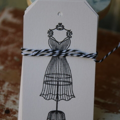 12 Dressmaker Gift Tags Seamstress Tags Dress Gift Tags