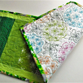 Quilted table runner, St Patricks Day decor, hall or sideboard runner. Lime to d
