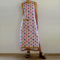 Cool Cotton Midi Dress A-line with Side Splits