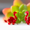 Dinosaur Stud Earrings ✧ Surgical Steel ✧ Acrylic Jewellery ✧ Red Glitter
