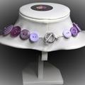 Purple Button necklace - Purple Patch