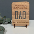 Personalised laser cut wooden card - Someone special to be a Dad