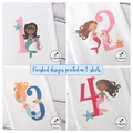 Mermaid Birthday Celebration t-shirt Personalised Kids 1st 2nd 3rd 4th