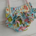 Floral frilly bloomers, girls gifts, baby ruffle nappy cover