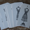 12 Dressmaker Gift Tags Seamstress Tags Dress Gift Tags