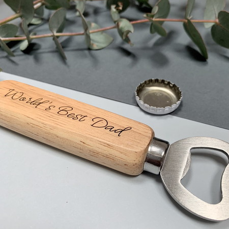 Personalised bottle opener - World's Best Dad - Father's Day gift