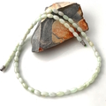 Delicate Pale Green Genuine JADE (Nephrite) Necklace.