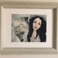 Selkie Fine Art Giclee Print from original acrylic painting, art doll wall art