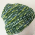 Green merino beanie, blue beanie, ladies beanie, fair trade Uruguay merino