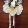 Flower Girl Floral Macrame Hoop