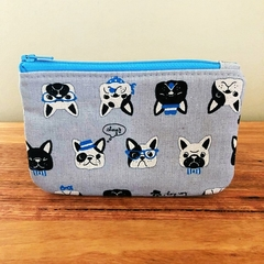 Coin purse - bulldog grey
