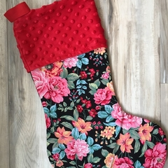 Personalised Christmas Stocking - Vintage Rose