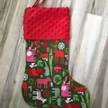 Personalised Christmas Stocking - Christmas Zoo