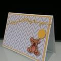 1st Birthday Baby Card