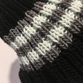 Black striped merino beanie, grey beanie, mint ladies beanie, Winter beanie