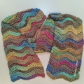 Rainbow Aura - Ridged Chevron Scarf
