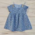 Girls summer dress, blue dress, playclothes for girls