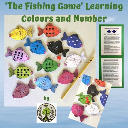 'The Fishing Game' Learning Colours and Number