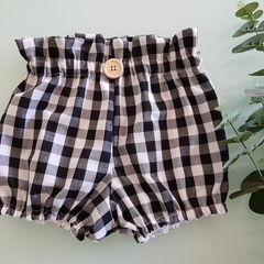 Girls Black and White Gingham High Waisted Bloomers Britches Size 0, 1, 2 & 3