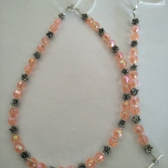 Brand New Handmade Orange Young  Girls Necklace and Bracelet Set