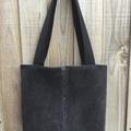 Upcycled Denim Tote Bag - Black & Blue