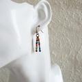 Colourful Rainbow seed bead tassel earring ( Tropical Hippie Boho Woodland Cute)