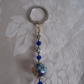 2 Brand New Handmade Pink And Blue Key Rings
