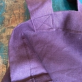 100% pure linen shoulder bag, rich burgundy maroon tote bag, weekend bag, casual