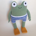 Frog in swimming costume