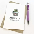 Moving House Card, Indoor Plant Card, House Warming Card, MOV013