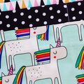Preschool teacher utility daycare lined apron - 6 pockets - Unicorns