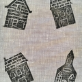 Hand-printed linen iPad or tablet case