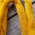 simple knitted summer scarf made from vintage mercerised cotton