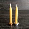 Waldorf or Steiner toy, natural eco friendly beeswax candles for family celebrat