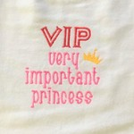 Princess embroidered bib