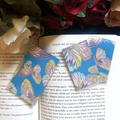Blue Butterfly Magnetic Bookmarks Set - Laminated Limited Edition Bookmarks