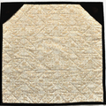 Quilted Embroidered Patchwork Wall hanging, Table Topper, earth tones, art quilt