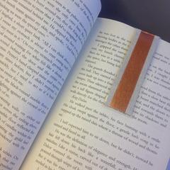Elegant Washi Tape Bronze Magnetic Bookmark