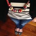 Speckled Egg Ceramic Beads on Kimono Cord - Blues