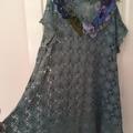 Plus size vintage lace bead embellished tunic Dress 22 - 24