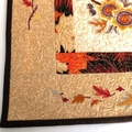 Embroidered owl and sunflowers, wall hanging, quilted wall art, autumn leaves
