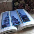 London Bookmarks - Upcycled from Expired Calendars - Set of 3 Bookmarks
