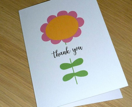 Thank you card - large flower