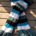 flared legwarmers - hand knitted in wool and acrylic yarns. ON SALE!!!